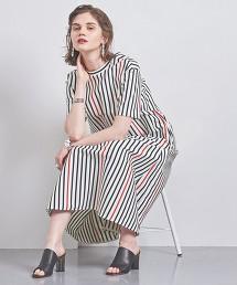<CINOH>直條紋 運動衣材質連身裙