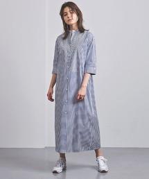 <CINOH>直條紋 襯衫式洋裝 日本製