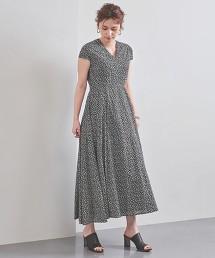 特別訂製<MARIHA>印刷 V領 洋裝 **0930瑕疵**