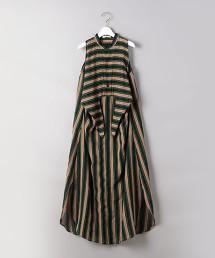<CURRENTAGE>多色條紋 無袖洋裝 日本製