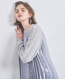 <EZUMi>百褶拼接針織衫