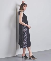 <EZUMi>格紋 側百褶洋裝 日本製
