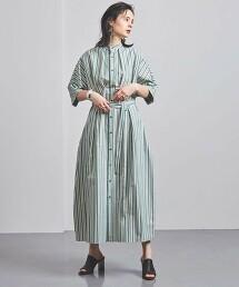 <CURRENTAGE>腰帶 襯衫式洋裝 ■■■ 日本製