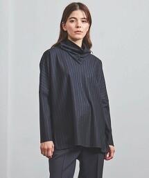 <ATON>直條紋 高領 套頭衫 日本製