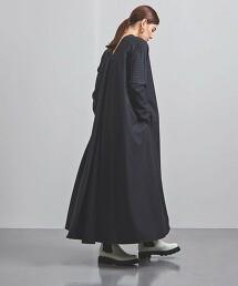 <ATON>直條紋 前抽摺 洋裝 日本製