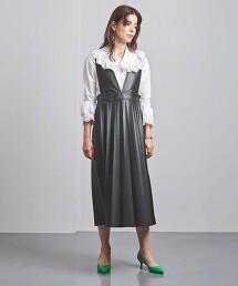 <near.nippon>仿皮革 連身裙 日本製