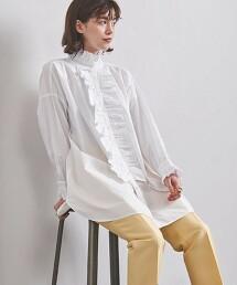 特別訂製<dahl'ia>摺邊  長版襯衫 日本製