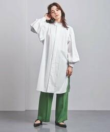 <FILL THE BILL>抽褶袖 長版襯衫 日本製