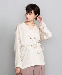 BY 萊賽爾纖維4釦襯衫式外套