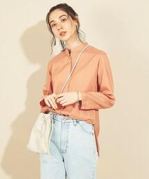 BY∴ 銅氨纖維 混棉 立領 寬版襯衫 -可手洗-