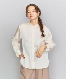 BY 緞面立領襯衫