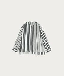 BY∴ 直條紋拼接長袖襯
