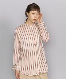 BY 透明直條紋立領襯衫