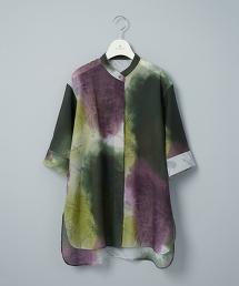 【台灣限定】TW E/ORG PRNT BND 6SL/染色立領襯衫