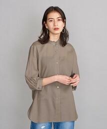 BY 雪紡紗荷葉立領7分袖純棉套衫 日本製