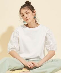 BY∴ 簍空 蓬鬆袖 T恤