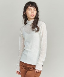 BY 圓點蕾絲高領套衫