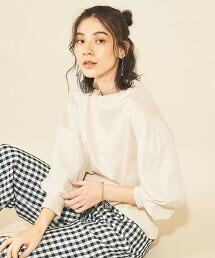 BY∴ 密紋平織碎褶袖純棉上衣 日本製