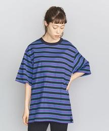 BY 複合橫條紋6分袖T恤