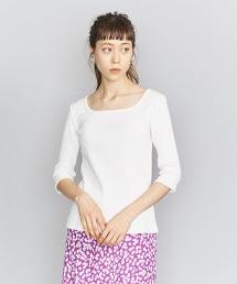 BY 羅紋方領6分袖T恤