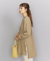 BY∴ 純棉 寬版 側開衩 長袖T恤 日本製