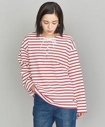 <ORCIVAL>橫條紋綁帶T恤