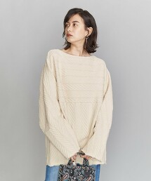 <R JUBILEE>人字紋 船型領 套頭上衣 日本製Ψ