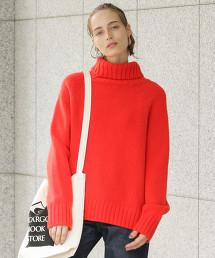 BY∴ 羊毛開衩高領針織毛衣