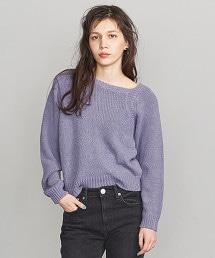 BY 棉質圈圈紗不對襯領針織衫