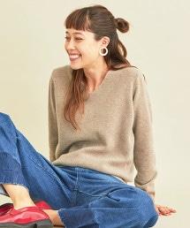 BY∴ 喀什米爾羊毛 V領 針織套頭毛衣-可水洗-