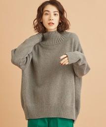 BY∴ FINE WOOL寬版高領針織罩衫