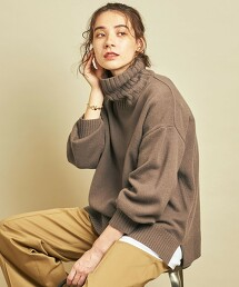 BY∴ 喀什米爾羊毛 垂墜高領針織套頭衫