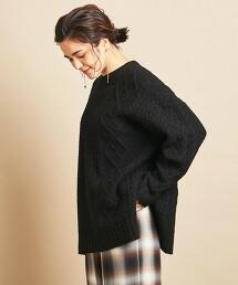 BY∴ 繩紋圓領針織毛衣