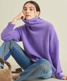 BY 羊毛 喀什米爾 寬鬆版型 立領 針織毛衣 ∴