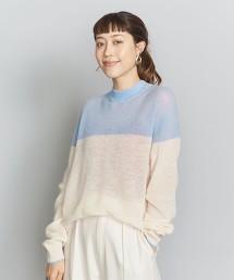 BY 馬海毛色塊針織罩衫