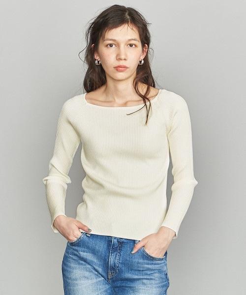 BY 羅紋方形領套衫