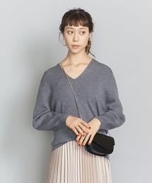 BY∴ 14G羅紋鬆背V領針織衫