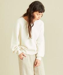 BY∴ 羊毛混尼龍 全成型V領針織毛衣