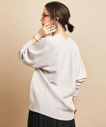 BY∴ 全成型 後蓬鬆 V領 針織毛衣 -可水洗-日本製