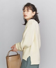 BY 3G 羊毛混紡 圓領針織套頭衫 日本製