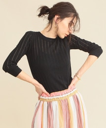 【WEB限定】by ※小孔7分袖夏季針織衫 -可手洗-