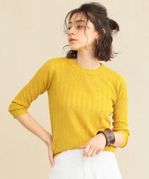 【預購】【WEB限定】by ※小孔7分袖夏季針織衫 -可手洗-