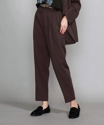 BY 斜紋織 打摺 錐形褲 9分長