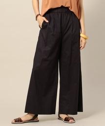 BY 棉質高密度平織鬆緊帶寬褲