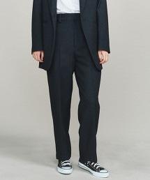 BY 素色&格紋錐形褲