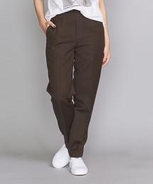 BY 素色&細直條紋合身褲