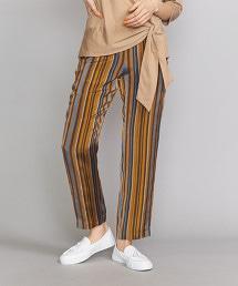 BY 另類搖滾直條紋錐形褲