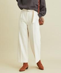 BY∴ 羊毛打摺腰帶寬褲