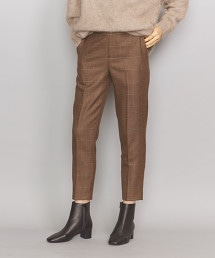 BY 格紋錐形9分褲