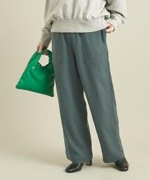 BY 圓筒烘乾機加工 斜紋織 貼帶口袋 輕便褲 -可手洗- ∴
